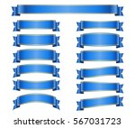 ribbon banners set. sign blank... | Shutterstock .eps vector #567031723