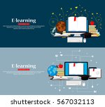 education infographic. set of... | Shutterstock .eps vector #567032113