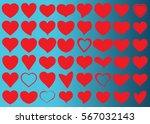 red heart vector icon... | Shutterstock .eps vector #567032143