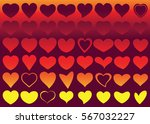 red heart vector icon... | Shutterstock .eps vector #567032227