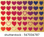 red heart vector icon... | Shutterstock .eps vector #567036787