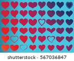 red heart vector icon... | Shutterstock .eps vector #567036847