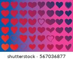 red heart vector icon... | Shutterstock .eps vector #567036877