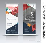 roll up banner design brochure... | Shutterstock .eps vector #567042097