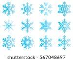 snowflake vector icon... | Shutterstock .eps vector #567048697