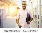 portrait of confident handsome...   Shutterstock . vector #567054607
