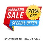 weekend sale banner  special... | Shutterstock .eps vector #567057313