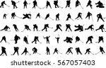vector silhouettes hockey... | Shutterstock .eps vector #567057403