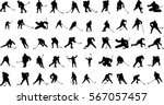 vector silhouettes hockey... | Shutterstock .eps vector #567057457