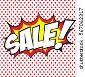 sale banner design in comic... | Shutterstock .eps vector #567062317