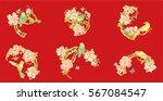 set hand drawn vector set birds ...   Shutterstock .eps vector #567084547