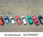empty parking lots  aerial view. | Shutterstock . vector #567090907