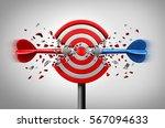 reaching goals together... | Shutterstock . vector #567094633
