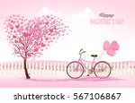 valentine's day background with ... | Shutterstock .eps vector #567106867