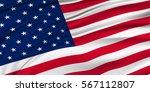 america national flag silk... | Shutterstock .eps vector #567112807