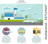 airport passenger terminal and... | Shutterstock .eps vector #567119647