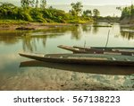 Small Boats Of Fishermen In Th...