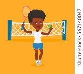 african american cheerful... | Shutterstock .eps vector #567140047