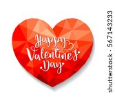abstract polygonal heart. happy ...