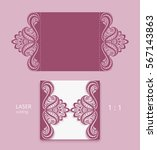elegant gate fold card with... | Shutterstock .eps vector #567143863
