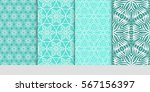 set of floral pattern of... | Shutterstock .eps vector #567156397