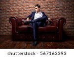 imposing well dressed man in a... | Shutterstock . vector #567163393