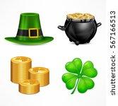 st. patrick. s day symbols. hat....   Shutterstock .eps vector #567166513