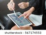 close up investor businesswoman ...   Shutterstock . vector #567174553
