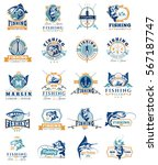 set of vector badges  stickers... | Shutterstock .eps vector #567187747