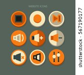 icon website media buttons... | Shutterstock .eps vector #567190177