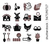farm icon set | Shutterstock .eps vector #567190717