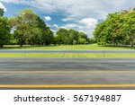 side view of asphalt road with... | Shutterstock . vector #567194887