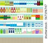 grocery store vector | Shutterstock .eps vector #567196747