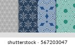 set of floral pattern of... | Shutterstock .eps vector #567203047