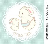 my best mom. vector background... | Shutterstock .eps vector #567220417