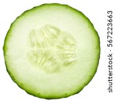 Cucumber Slice  Isolated On...