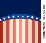 banner in the us flag colors ... | Shutterstock .eps vector #567227503