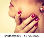 sore throat  tonsillitis ... | Shutterstock . vector #567236023