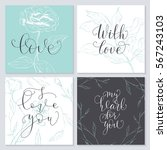 set of valentine's day cards.... | Shutterstock .eps vector #567243103