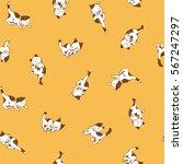 pretty cat pattern | Shutterstock .eps vector #567247297