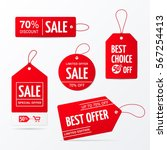 Vector Collection Of Red Sale...