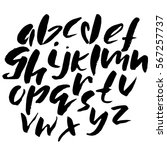 hand drawn font made by dry... | Shutterstock .eps vector #567257737