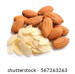 Almonds Nuts With Petals Almon...