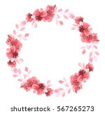 set of flowers  leaves and... | Shutterstock . vector #567265273