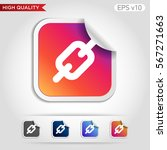 colored icon or button of chain ... | Shutterstock .eps vector #567271663