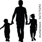 father with kids vector... | Shutterstock .eps vector #567275293