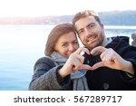 Romantic Lovers Couple Having...