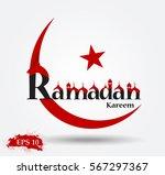 beautiful ramadan kareem text...   Shutterstock .eps vector #567297367