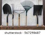 gardening tools  spade  fork... | Shutterstock . vector #567298687