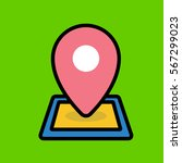 location icon flat design